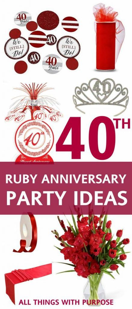 Ruby Wedding Gifts For Parents: 25+ Best Ideas About 40th Anniversary Gifts On Pinterest