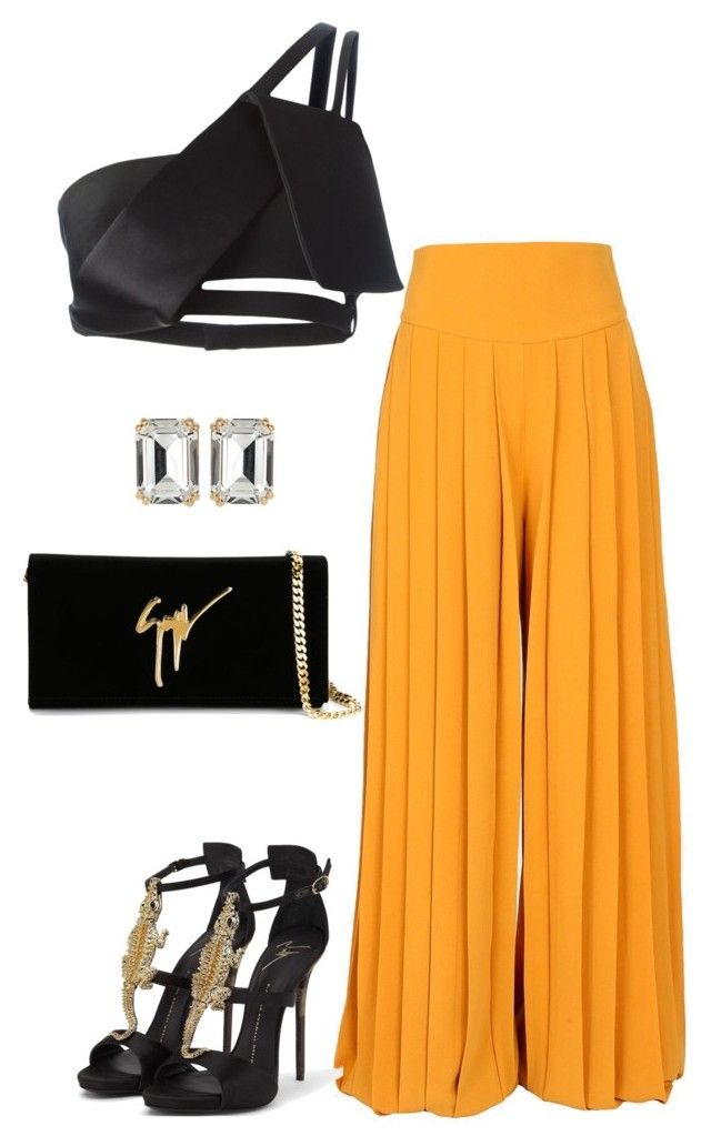 """Untitled #583"" by fashionkill21 ❤ liked on Polyvore featuring Balmain, Thierry Mugler, Giuseppe Zanotti and House of Lavande"