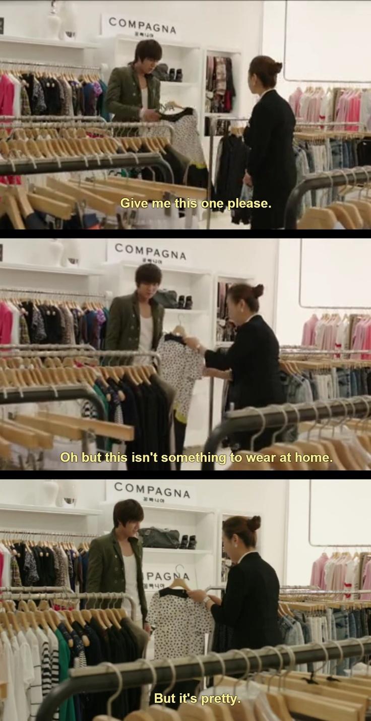 Lee Yoon Sung shopping for Kim Nana. ^_^