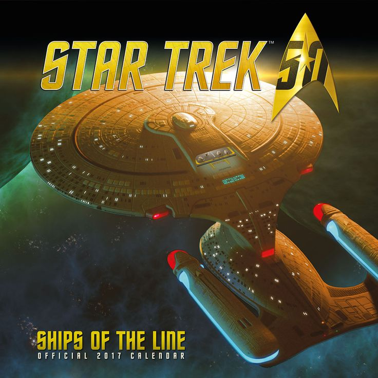 New Official Star Trek Ships of the Line 2017 Calendar available with FREE UK P&P (plus worldwide delivery available) at http://bit.ly/TVCals2017