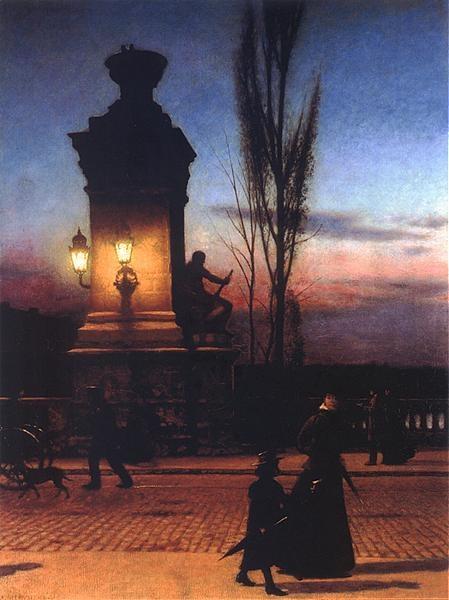 Bridge in Munich, 1890 by Aleksander Gierymski (Polish, 1850-1901)