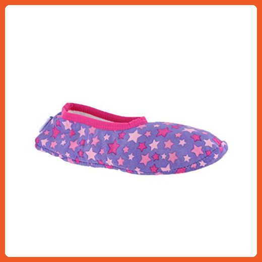 Snoozies Skinnies Small Slippers Lightweight Pink Stars Purple - Slippers for women (*Amazon Partner-Link)