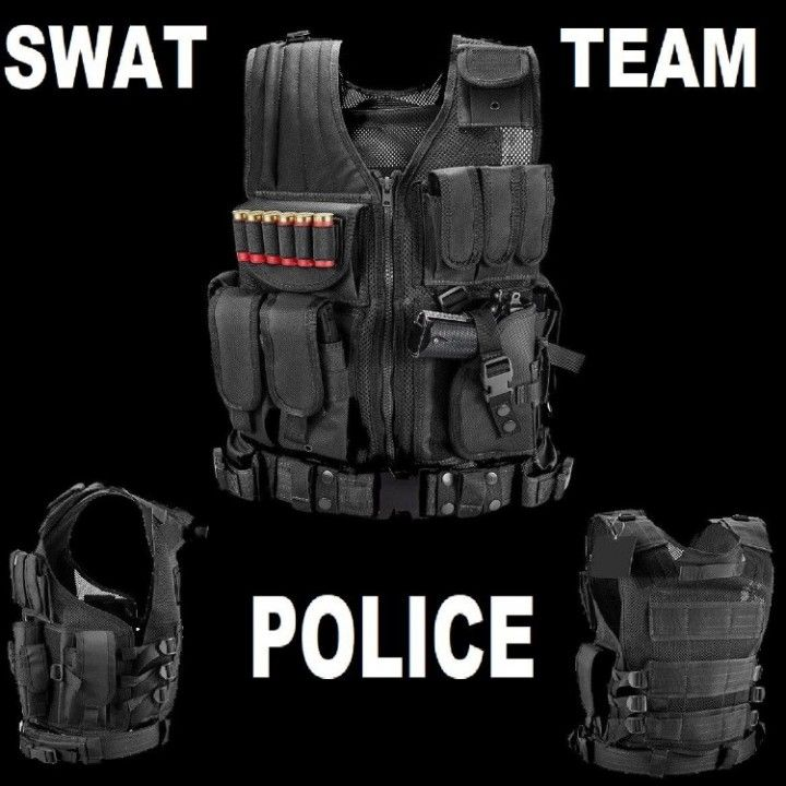 SWAT TEAM POLICE Tactical Military Vest