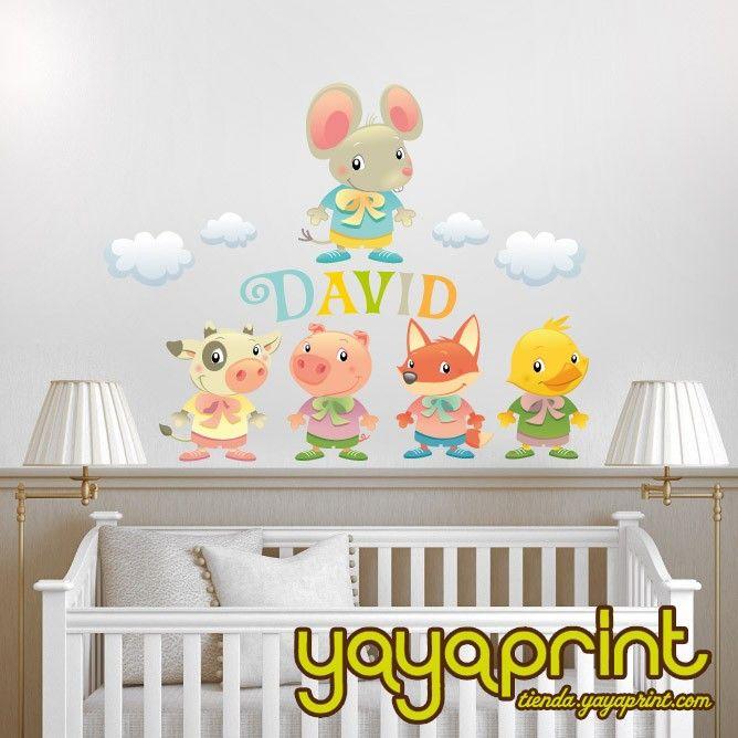 Mejores 200 im genes de vinilos pared decoraci n yayaprint - Decoracion infantil barcelona ...