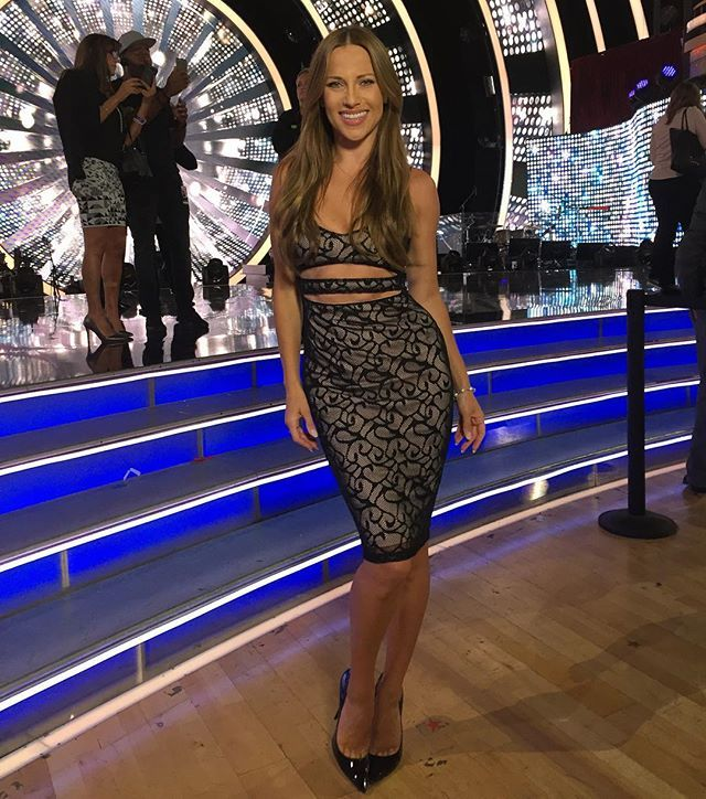 On the set of @dancingabc corresponding for @celebritypagetv Who is watching…