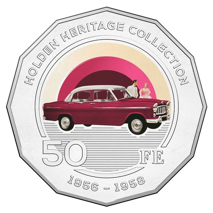50c 2016 Holden Heritage Collection - FE reverse