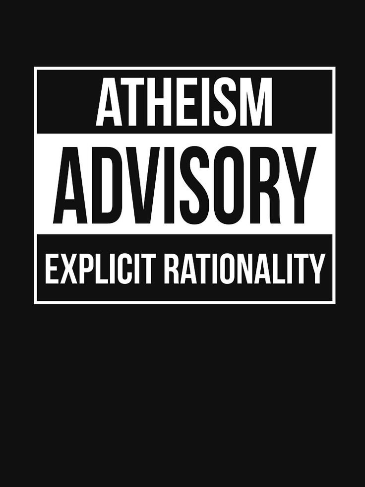 """Atheism Advisory -- Explicit Rationality"" by Samuel Sheats on Redbubble. Apparel and merchandise. #atheism #humanisim #advisory #warning #caution #humanism #logic #science"