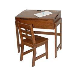 Lipper International Kids' Desk and Chair Set in Walnut   Wayfair