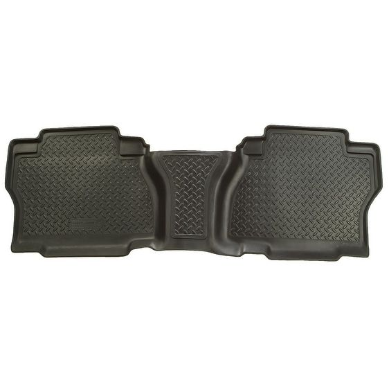 Husky Classic 2007-2013 Toyota Tundra CrewMax Cab 2nd Row Black Rear Floor Mats/Liners
