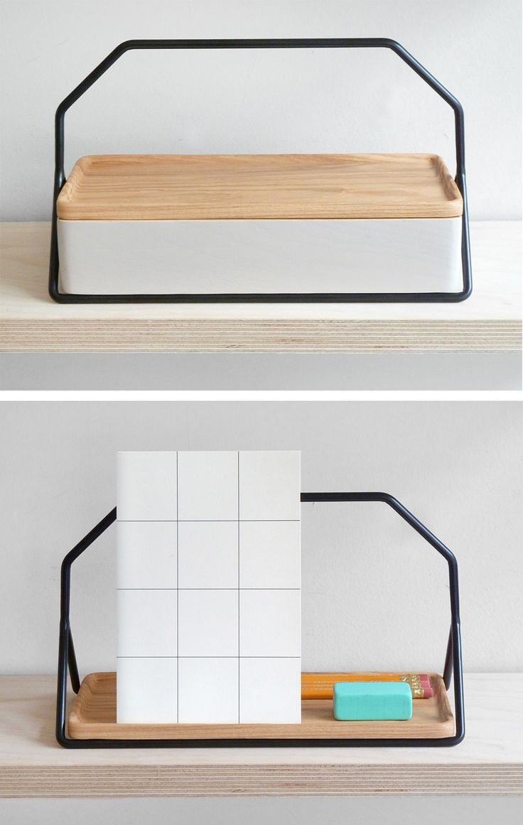 Desk tool box, tray & book stand.