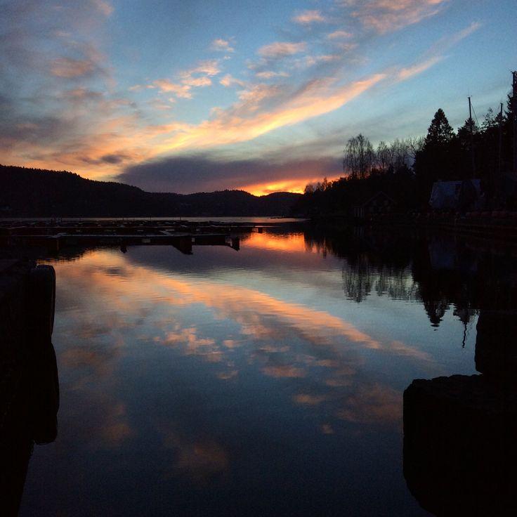 Beautiful sky!Telemark in Norway.