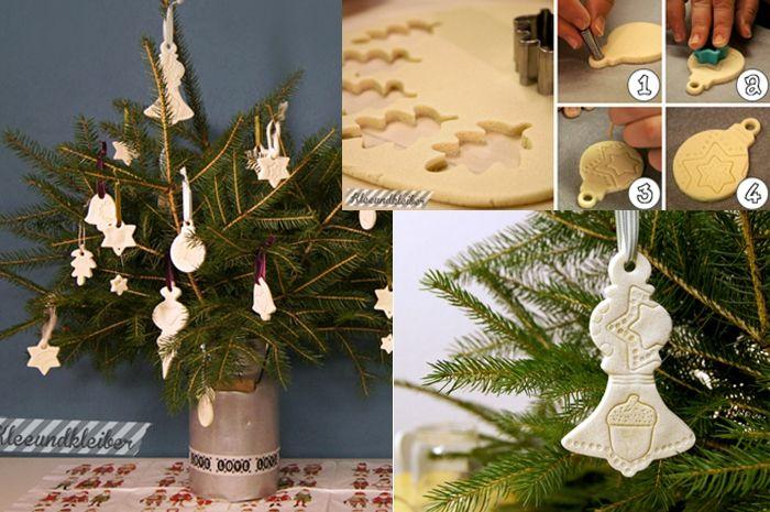 Weihnachtsschmuck backen: Christbaumschmuck aus Salzteig basteln