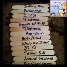 Journey of a Substitute Teacher: Quick Time Fillers. Go to her page for an explanation of the games