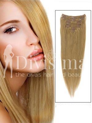 Blond Miere Clip-On Par Natural
