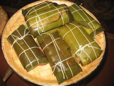Las hallacas!  Our traditional holiday tamales, filled with a delicious pork, beef and chicken stew... yummy!