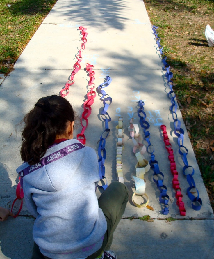 Nice engineering challenge :: Who can make the longest chain out of a piece of paper?
