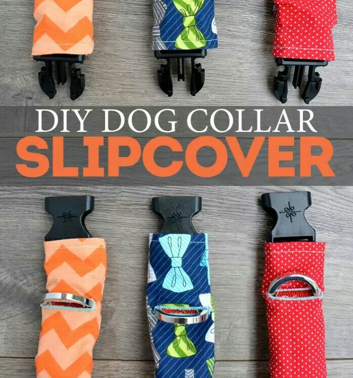 Cute pet collars are EXPENSIVE. Make your own collar covers for PENNIES!  http://bitesizedbiggie.com/dog-collar-slipcover/