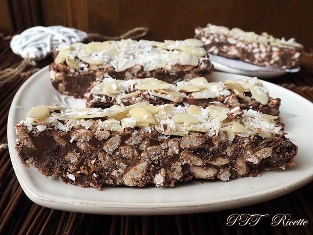 Barrette al cioccolato con uvetta e riso soffiato 8