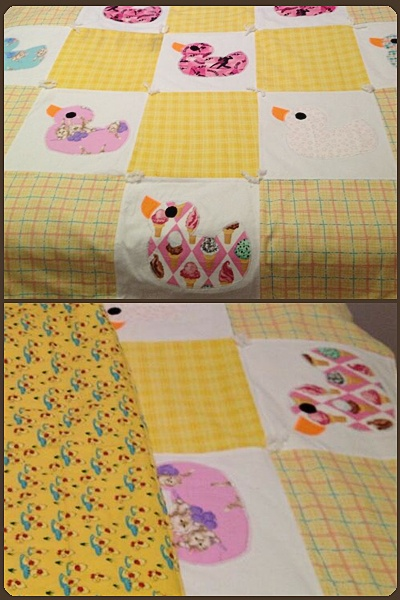 Ugly Ducklings quilt made by @amberwoodske. Beautiful!