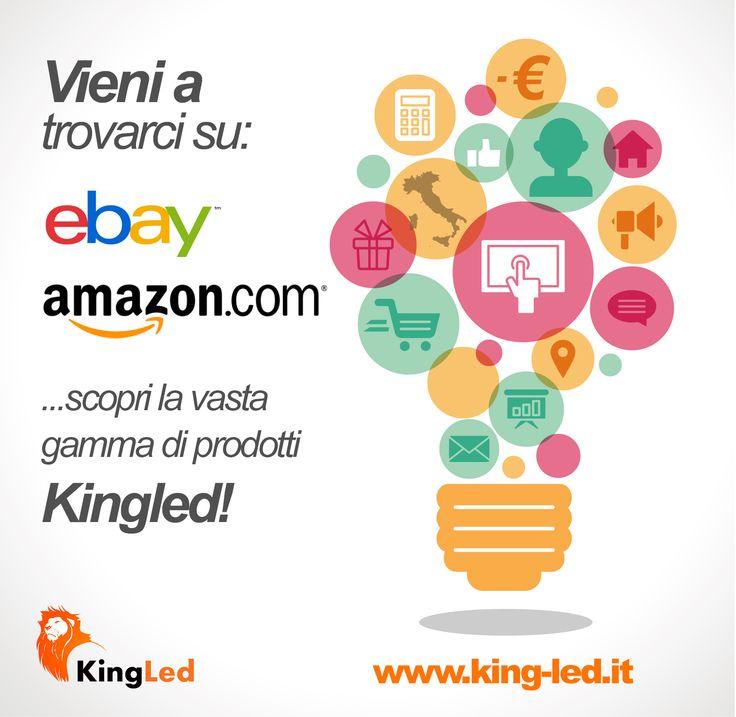 Vieni a trovarci anche su www.king-led.it e cliccando mi piace sulla nostra fb page avrai uno sconto esclusivo sul prossimo acquisto online!