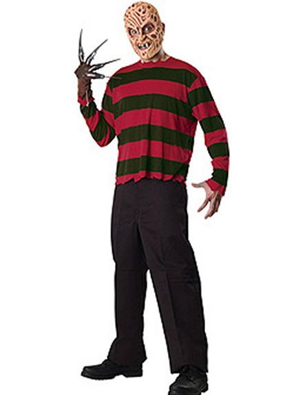 3-pc A Nightmare On Elm Street Freddy Krueger Adult Costume Kit