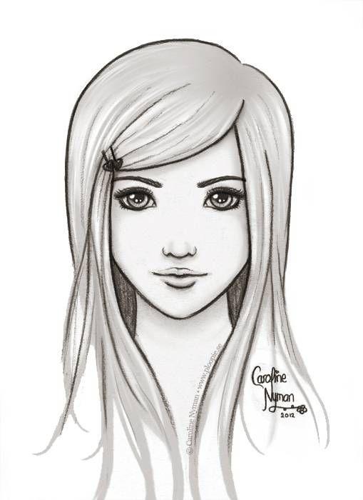 Easy Drawing Girl