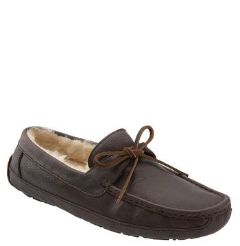 UGG® Australia 'Byron' Slipper (Men) in Chocolate  $139.95 | Nordstrom - Bf loves these slippers. Lining is not removable so once shoes wear out, get new ones.