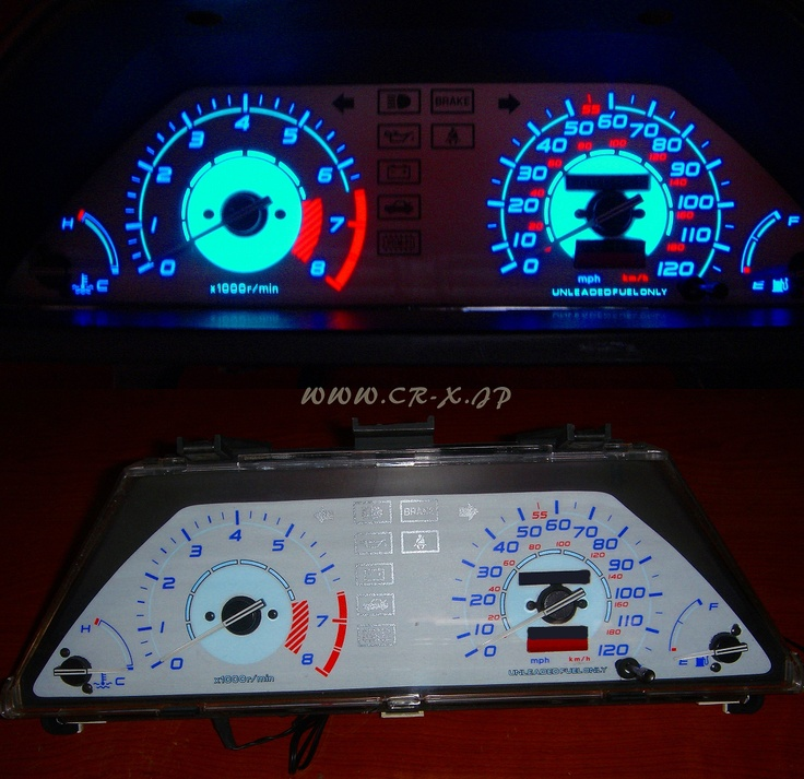 Until US EL meter panel (white model) 1985 for CR-X / TEST only♪