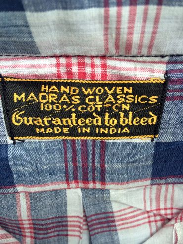 1960s Bleeding Madras Shirts 2(1)