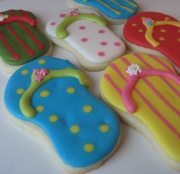 .: Aussies Parties, Slippah Cookies, 1St Birthday Parties, Hawaiian Parties, Aimee Parties, 1St Birthdays, Flops Cookies, Parties Cookies, 6Th Birthday Parties