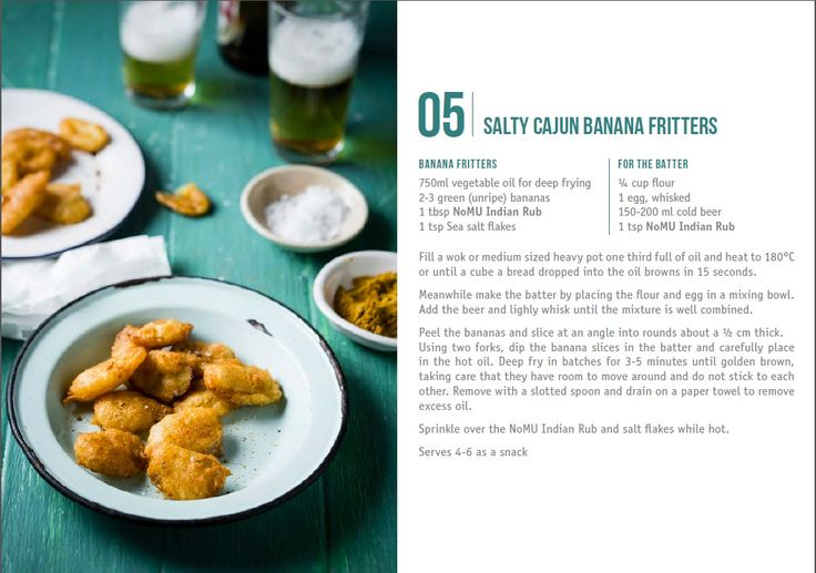 Nomu:  Salty Cajun Banana Fritters