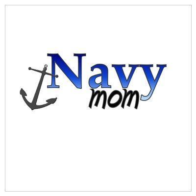 Navy mom Poster