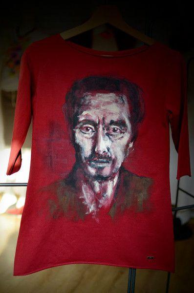 Al Pacino hand painted by Letycja w Letycja odzież ręcznie malowana na DaWanda.com