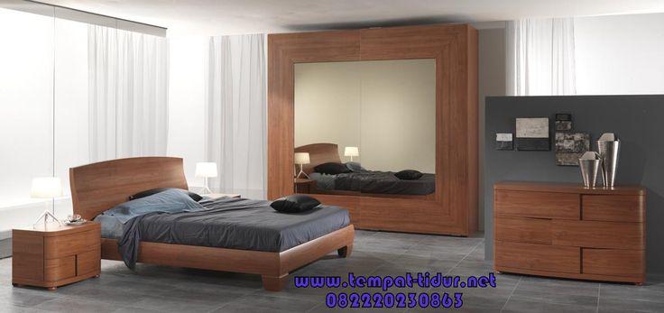 Set kamar tidur minimalis kayu jati yang sangar cocok untuk mengisi interior kamar apartemen, kamar tidur hotel maupun kamar tidur utama minimalis murah