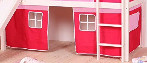 "This Flexa Loft Curtains are a ""must-have"" for any loft bed, or bunk bed. Included three panels: Two panels with window: 31.5""W x 28""H One Solid Panel: 34.5""W x 28""H With a fun play space underneath, Flexa has been making the safest loft beds for decades with great... more details available at https://furniture.bestselleroutlets.com/children-furniture/bedroom-sets-children-furniture/product-review-for-curtains-for-twin-loft-bed-or-bunk-bed-pink-w"