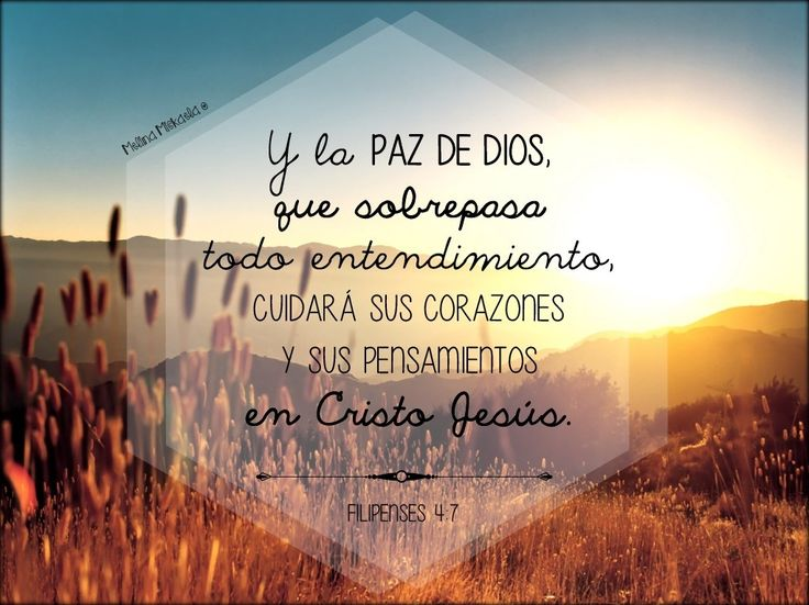 La PAZ de DIOS - Filipenses 4:7