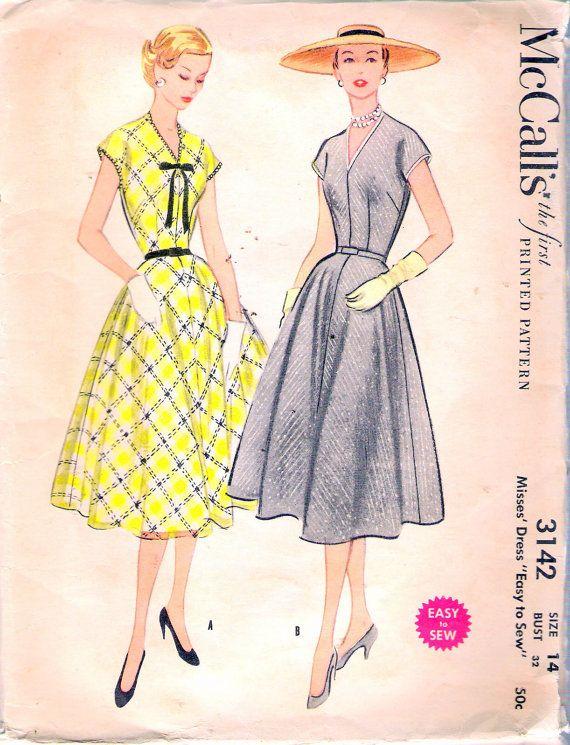 Vintage 1955 McCall's 3142 Misses' Full Circle Skirt