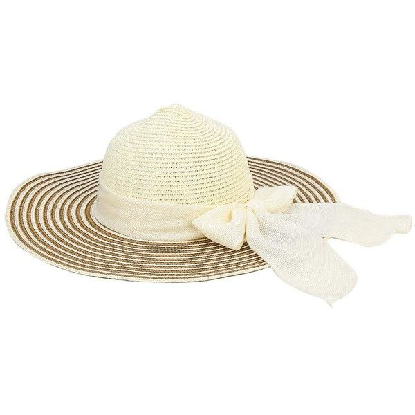 Yoins Wide-Brim Butterfly Pattern Beach Sun Floppy Straw Hat (€11) ❤ liked on Polyvore featuring accessories, hats, white, white floppy hat, floppy hat, white wide brim hat, white church hats and floppy straw hat