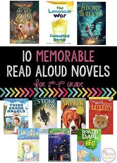 10 read aloud novels for 2nd and 3rd grade classrooms to keep your students engaged and wanting to read more!