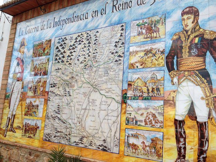 BAILÉN INFORMATIVO: Panel en la Casa de Postas de Villanueva de la Reina-Jaén, conmemorando el Bicentenario de la Batalla de Bailén
