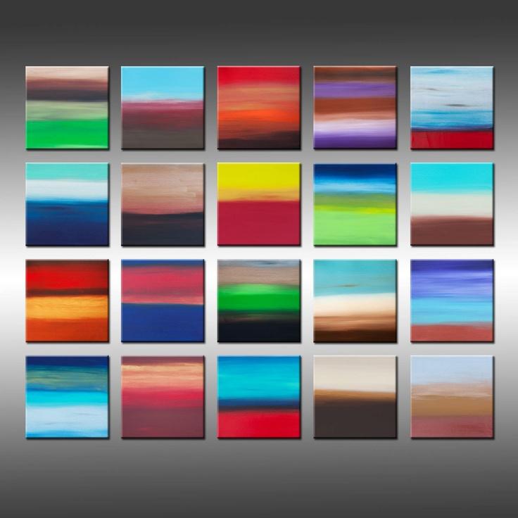 Original modern painting multiple canvas art contemporary for Multi canvas art ideas