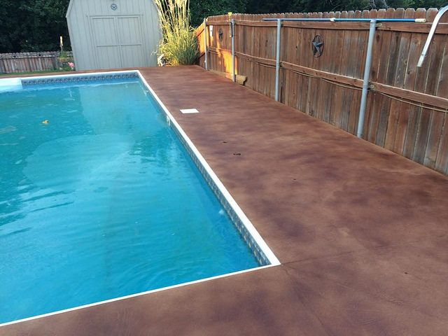 Stained Concrete Pool Deck Indianapolis Indiana