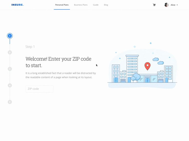 Hey there! Take a look at the landing page concept for insurance aggregator. Take all necessary steps, enter your info so that Insure can deliver the most accurate results. It generates the broa...