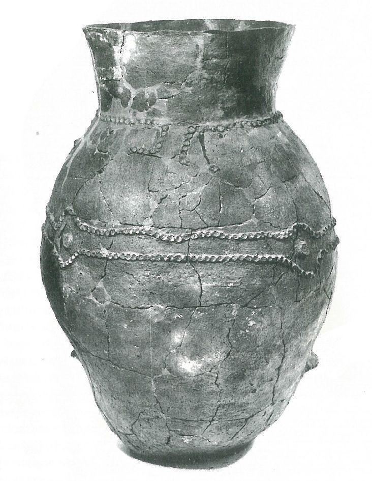 ca. 4500 BC. Eastern Linear Pottery Culture / Linearbandkeramik (LBK) - storage vessel from Košice-Barca (Slovakia) from Václav Furmánek, Alexander Ruttkay, Stanislav Šiška: Dejiny dávnovekého Slovenska