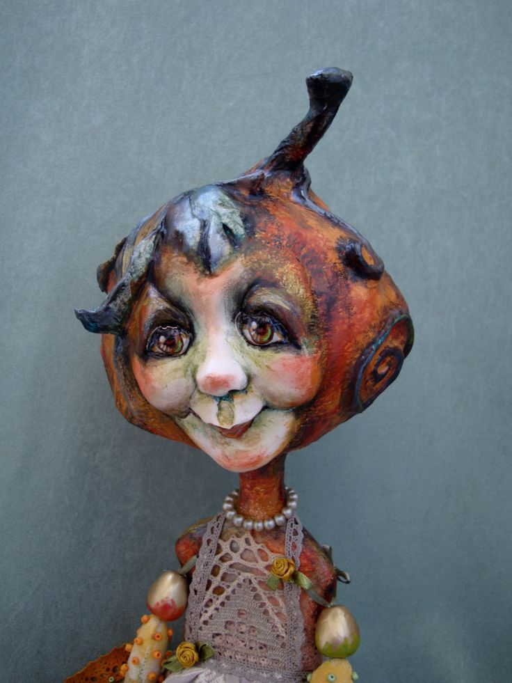 A personal favourite from my Etsy shop https://www.etsy.com/listing/469408981/pumpkin-house-wife-doll-autumn-pumpkin
