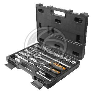 """Maleta de 39 piezas de llaves fijas con carraca de 1/4"""" y 1/2"""" de herramientas Tolsen  www.cablematic.es/producto/Maleta-de-39-piezas-de-llaves-fijas-con-carraca-de-1_slash_4_ampersand_quot%3B-y-1_slash_2_ampersand_quot%3B-de-herramientas-Tolsen/"""