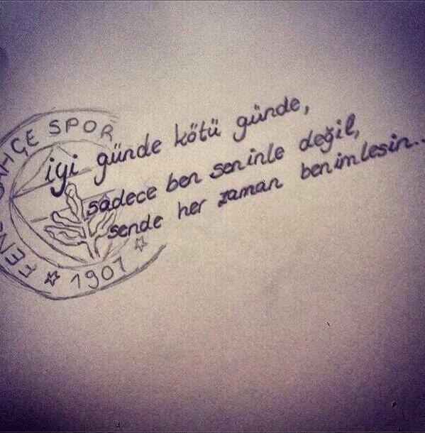 Herzaman benimlesin Fenerbahçe