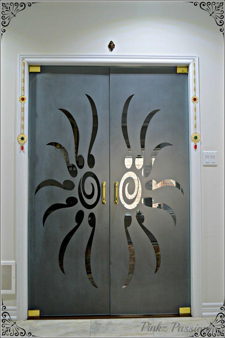 Temple room glass door, pooja room, Indian pooja room