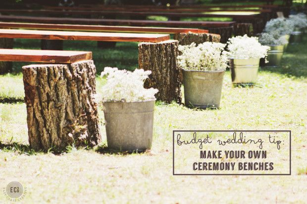 DIY Wedding Seating- Rustic Log Benches (Perfect for a Fall wedding)