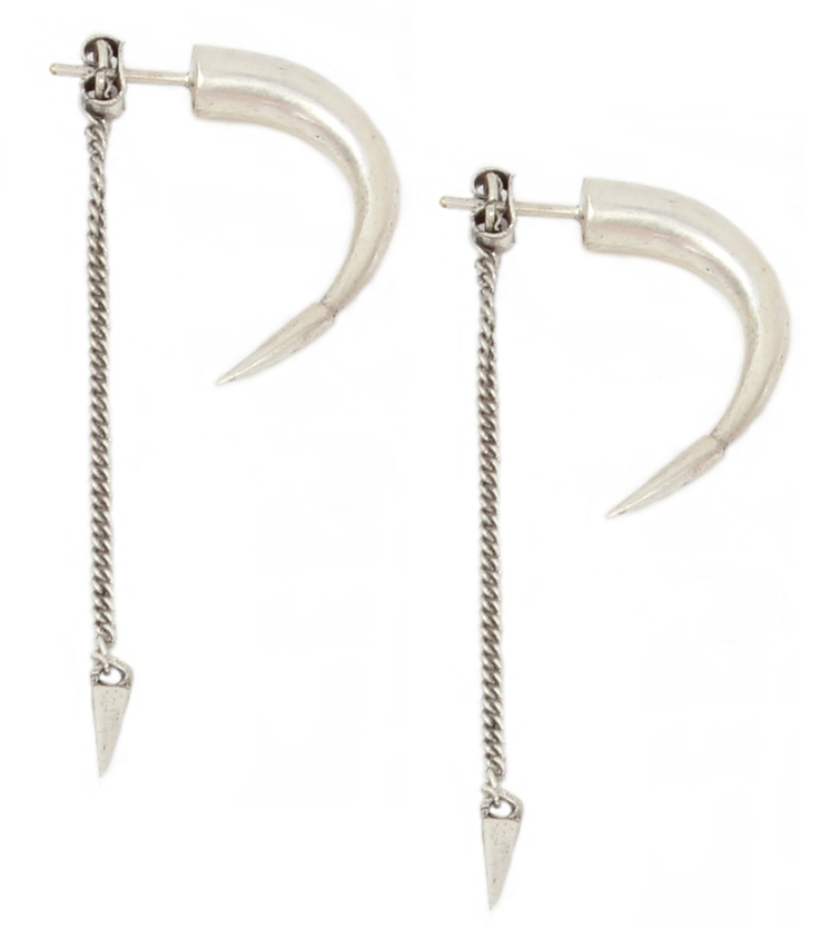 Tarabus horn earrings silver. Find them at silkstonewood.